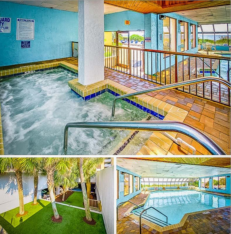 Shared pool and spa area.