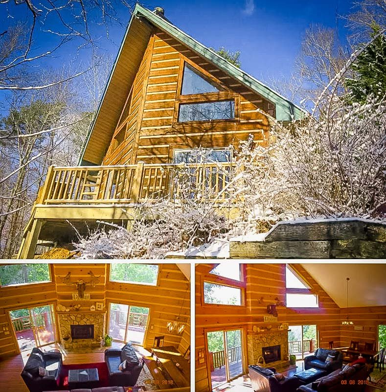 A beautiful A-Frame cabin that's among the most unique monthly rentals on Airbnb.