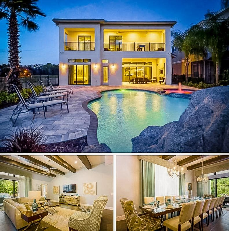 Orlando home rental with private pool and other luxurious amenities.