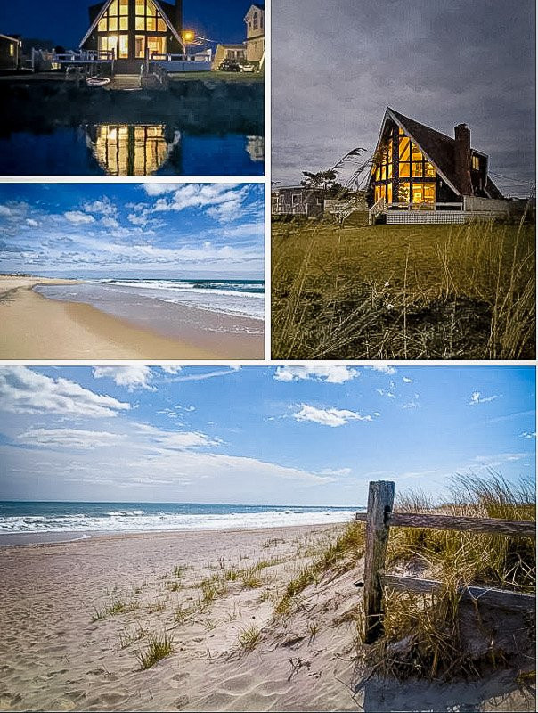 Waterfront A-Frame cabin for rent.