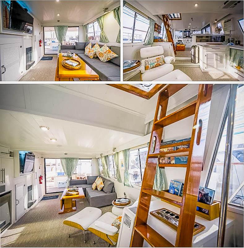 Boat cabin.