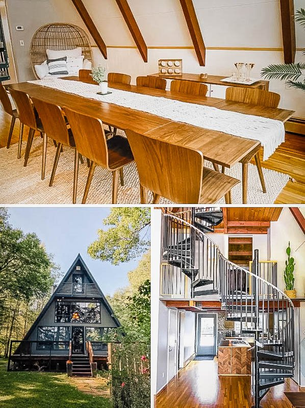 One of the coolest A-Frame Airbnbs in New York