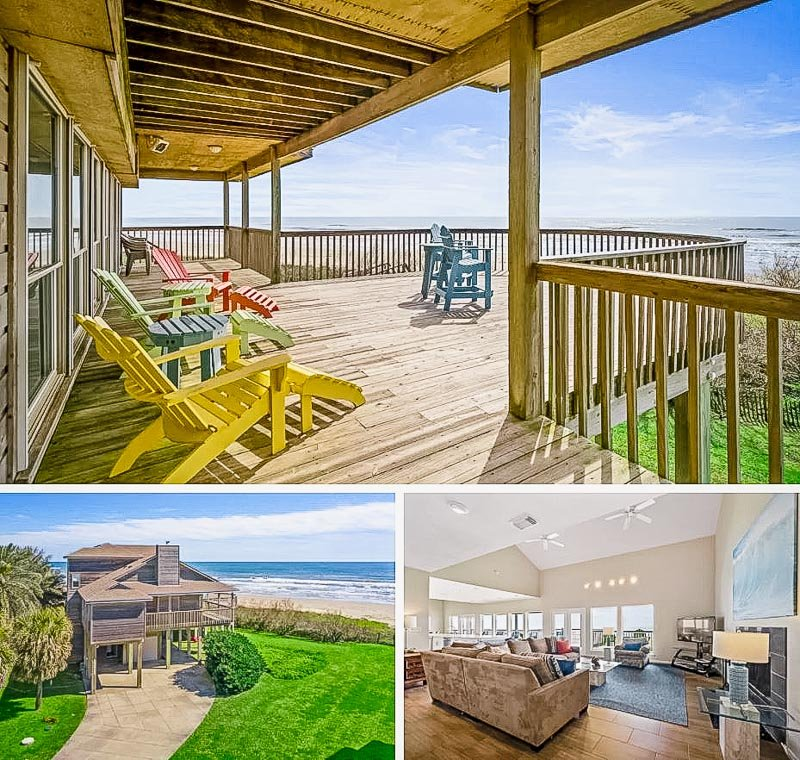 One of the best beach house Airbnbs in Galveston TX