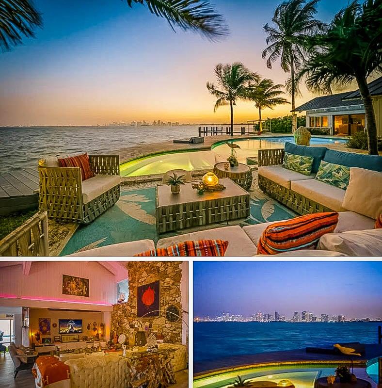 A beachfront villa rental in Miami