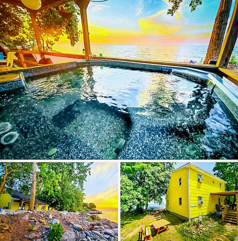A lakefront home in NY for long-term rent.