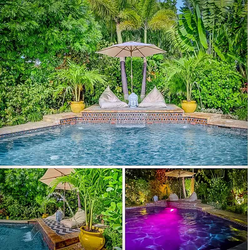 One of the best house rentals in Florida with a secluded swimming pool.
