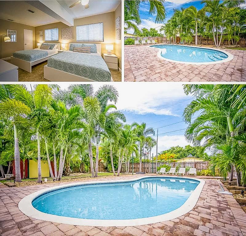 Refreshing swimming pool in the backyard of this FL vacation rental