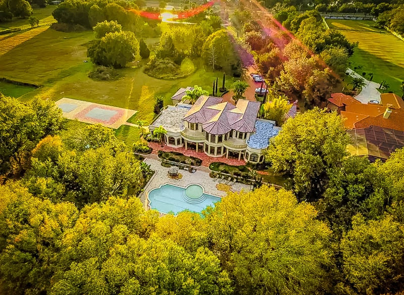 A waterfront villa rental in Florida.
