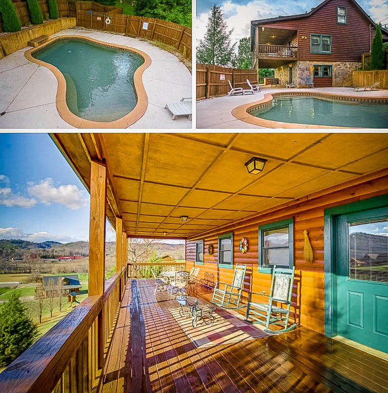This house is one of the top Airbnb cabins with a private pool in Tennessee