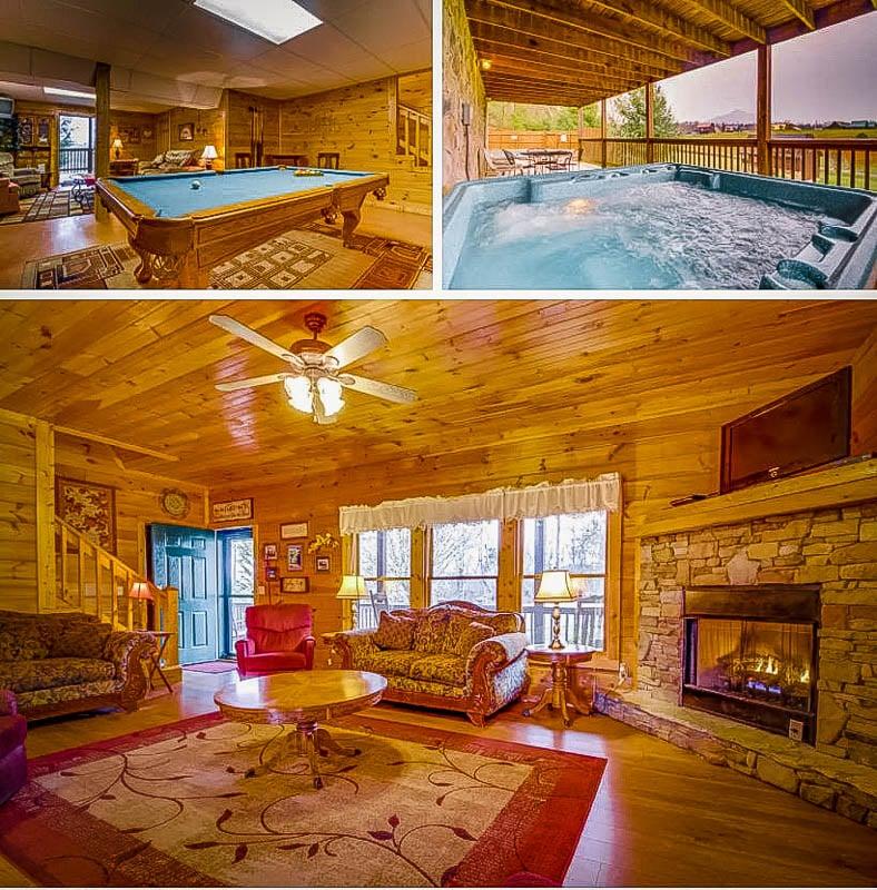 Rustic lodge-style décor.