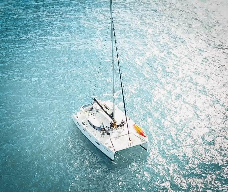 Luxury yacht on turquoise waters