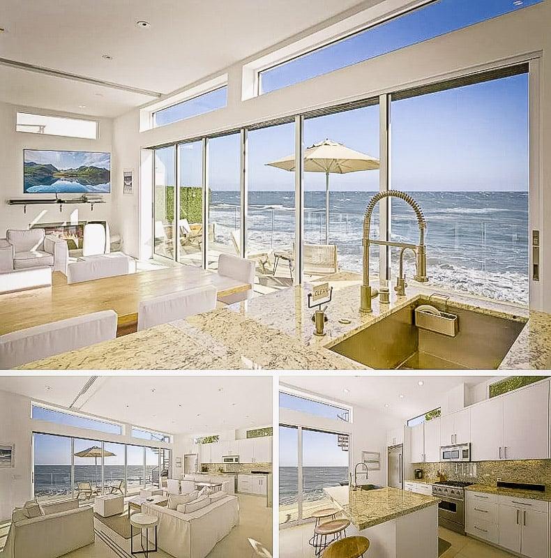 A unique beachfront rental in Malibu with private beach.