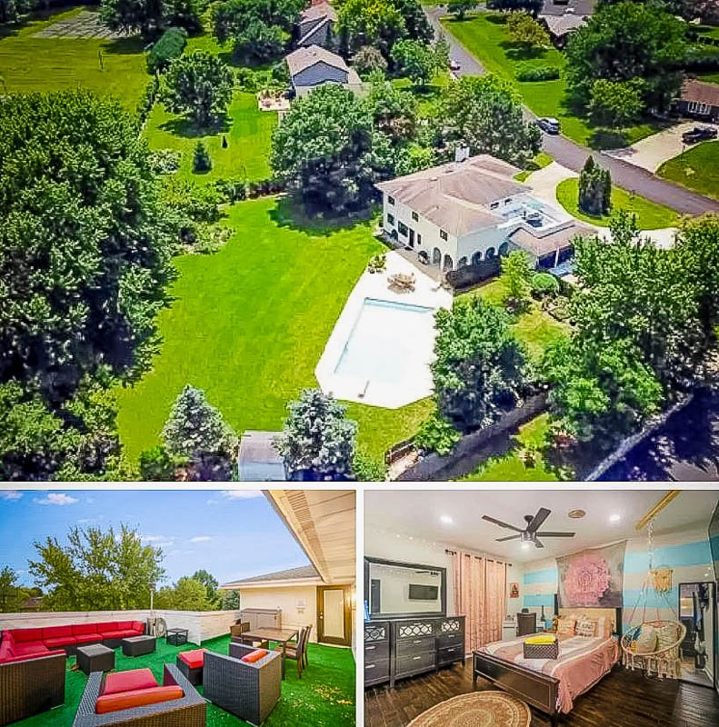 Beautiful vacation rental around Chicago with an indoor pool.