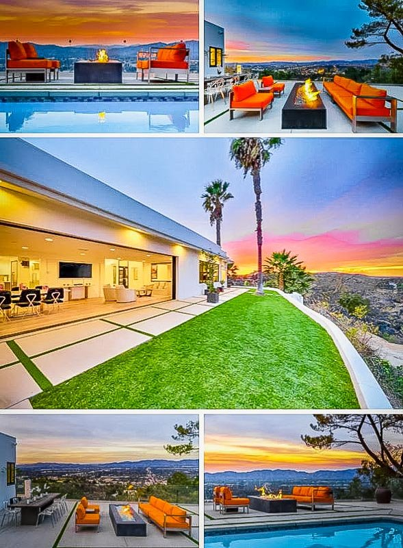 Incredible Airbnb villa with a view of LA.