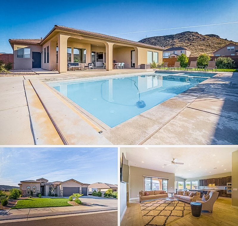 One of the most unique Airbnbs in Utah with a private pool