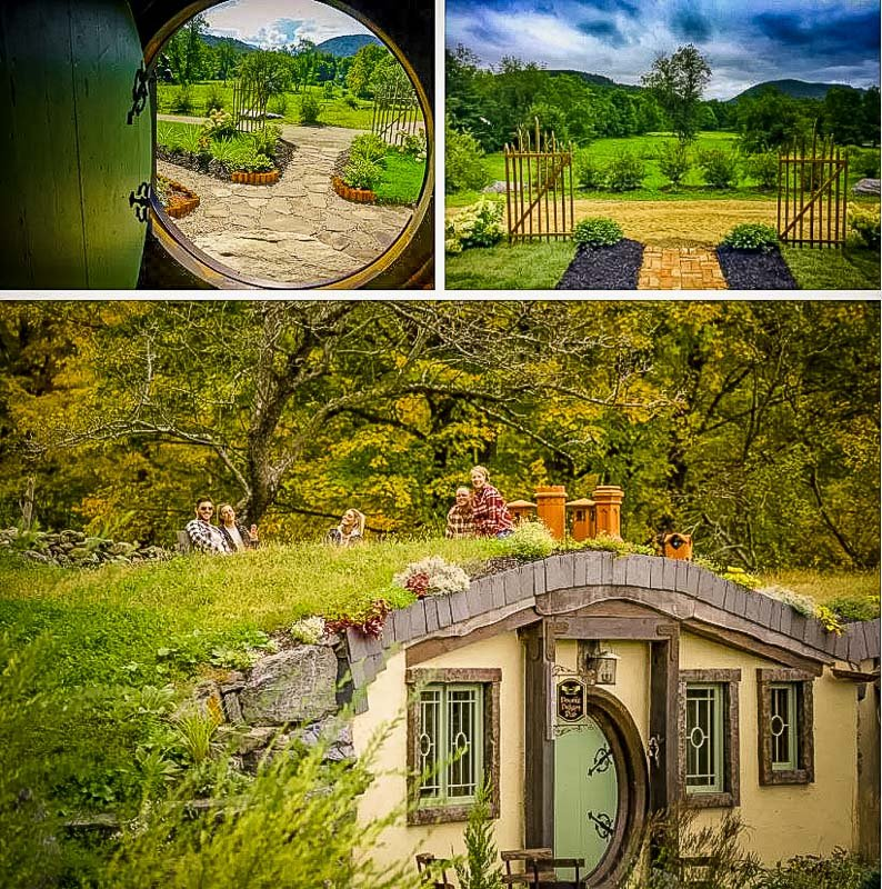 Sweeping views from the Airbnb hobbit house
