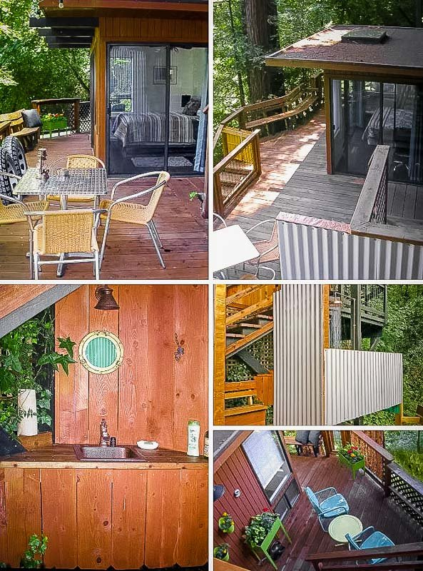 Riverfront treehouse Airbnb rental in the Redwoods