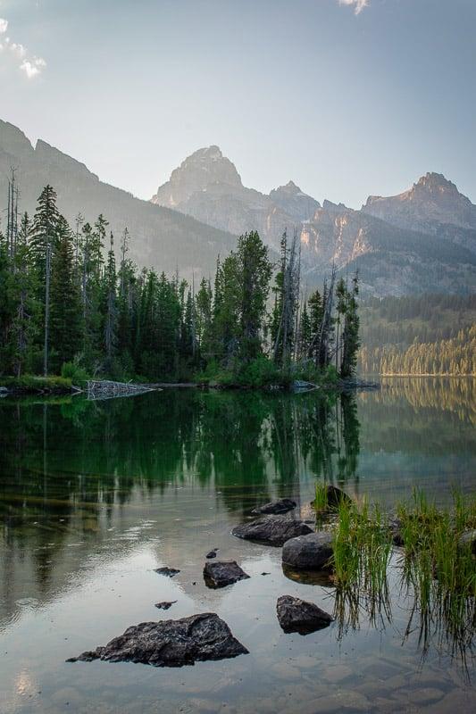 Glacial lakes in Grand Teton National Park