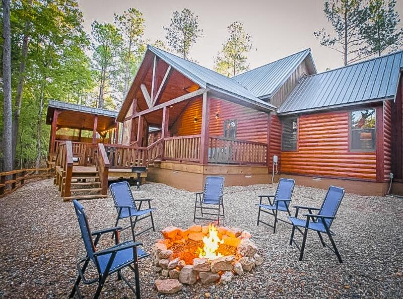 Cabin rentals are sprawled around Broken Bow, one of the best hidden gem vacation spots in the US.