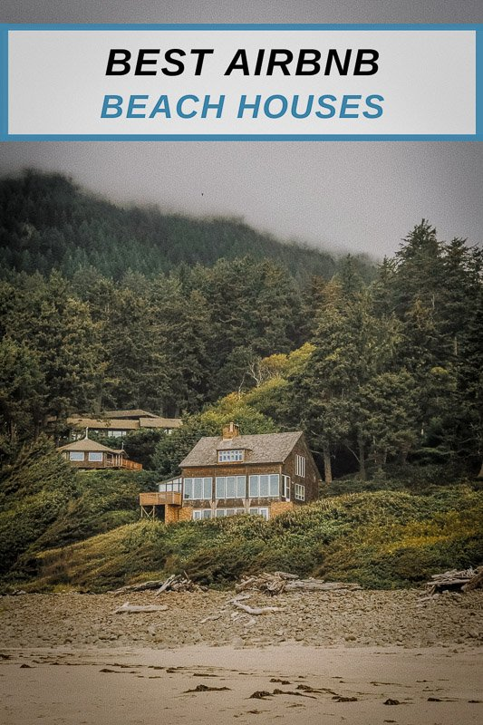 Airbnbs on the beach in the USA pinterest image