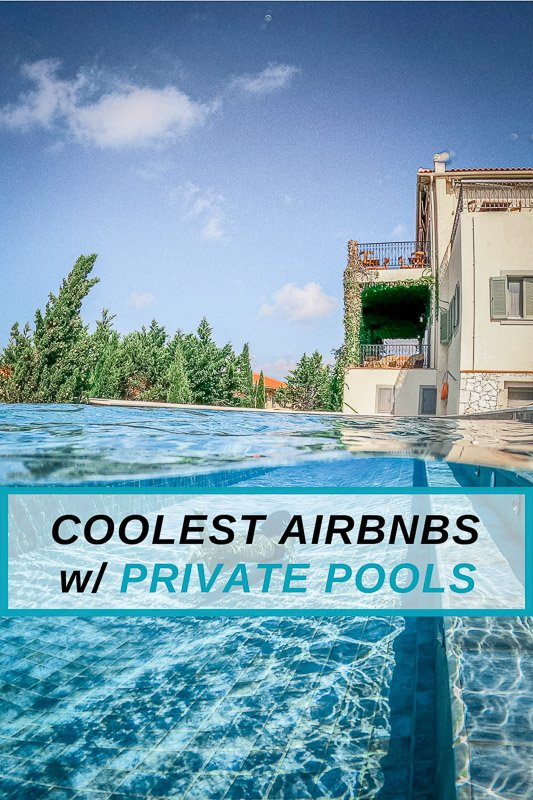 Unique Airbnb rentals with private pools in the USA
