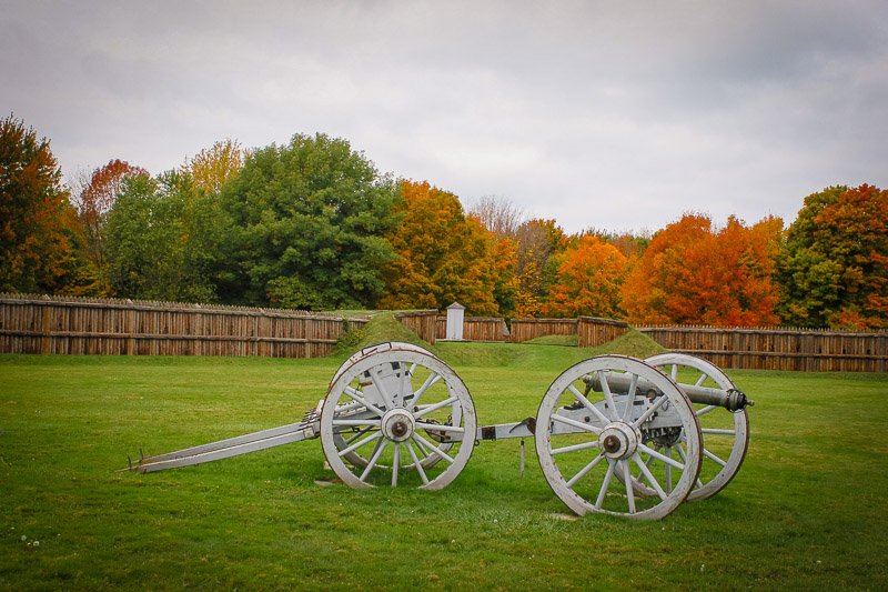 War of 1812-era cannon.