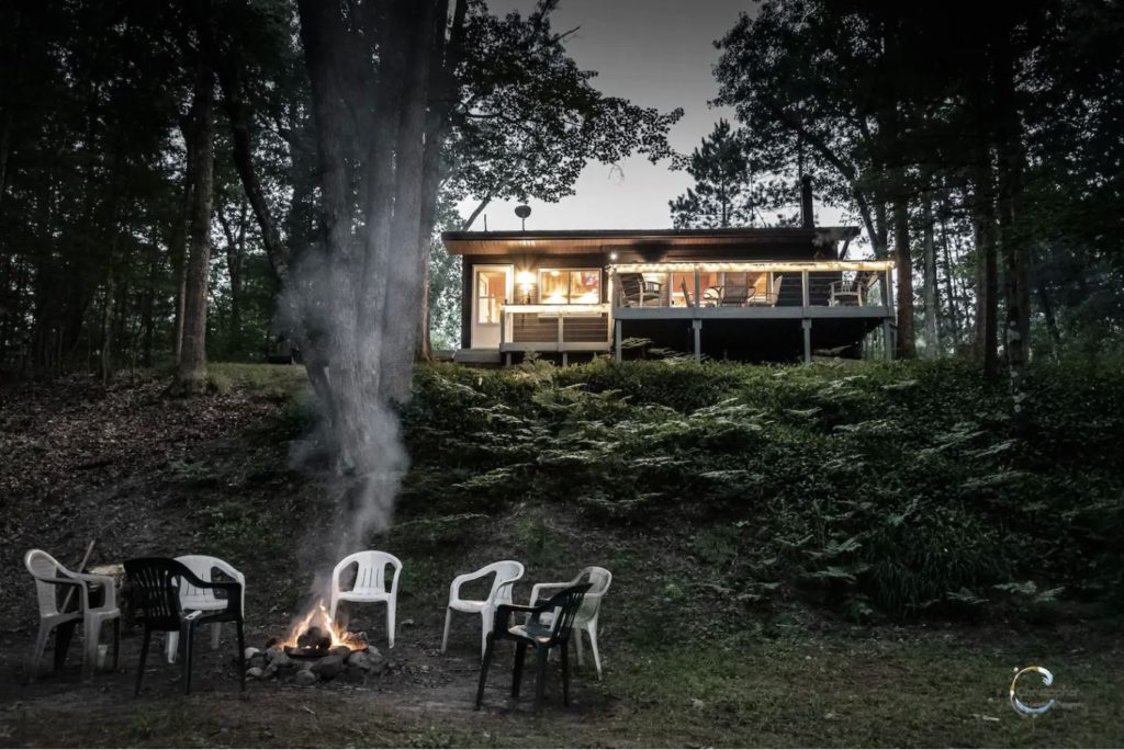 A riverfront cabin Airbnb like no other