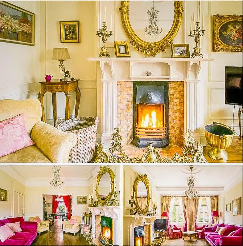 Cozy interior décor inside this Dublin Airbnb
