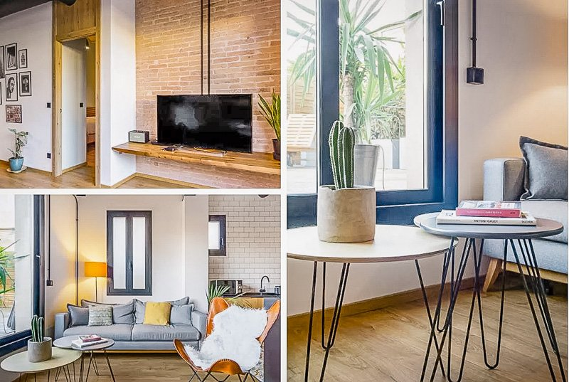 Modern fixtures and decor