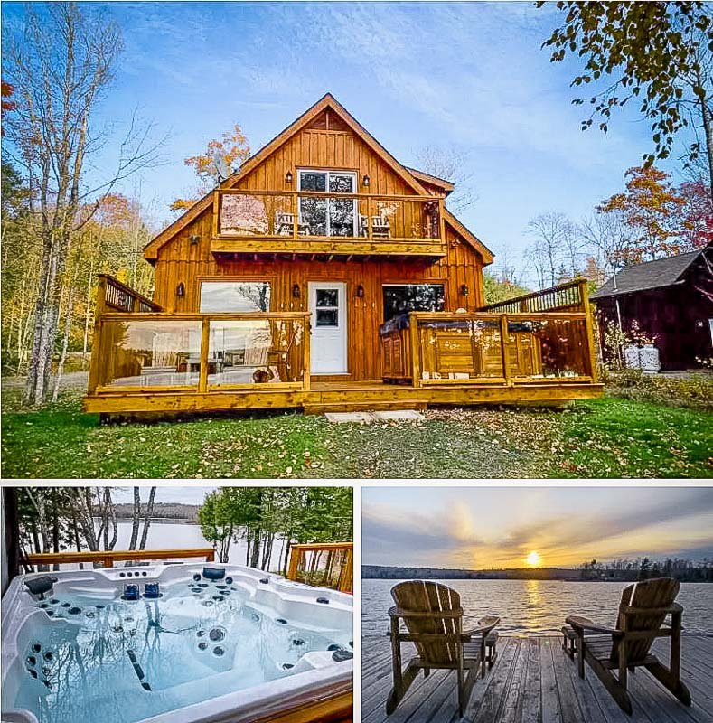 Lakefront Airbnb rental in Canada
