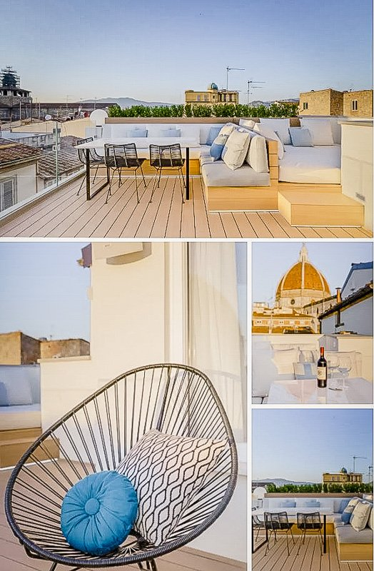 Rooftop Airbnb rental in Florence, Tuscany