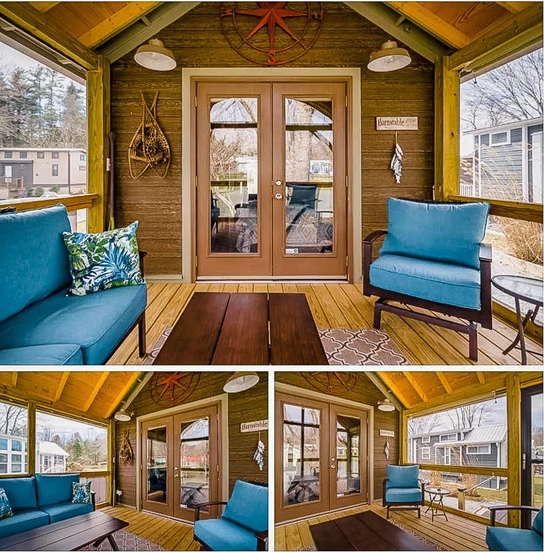 A tiny house rental on Airbnb in North Carolina.