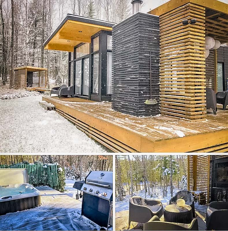 A waterfront villa in the forests of Quebec