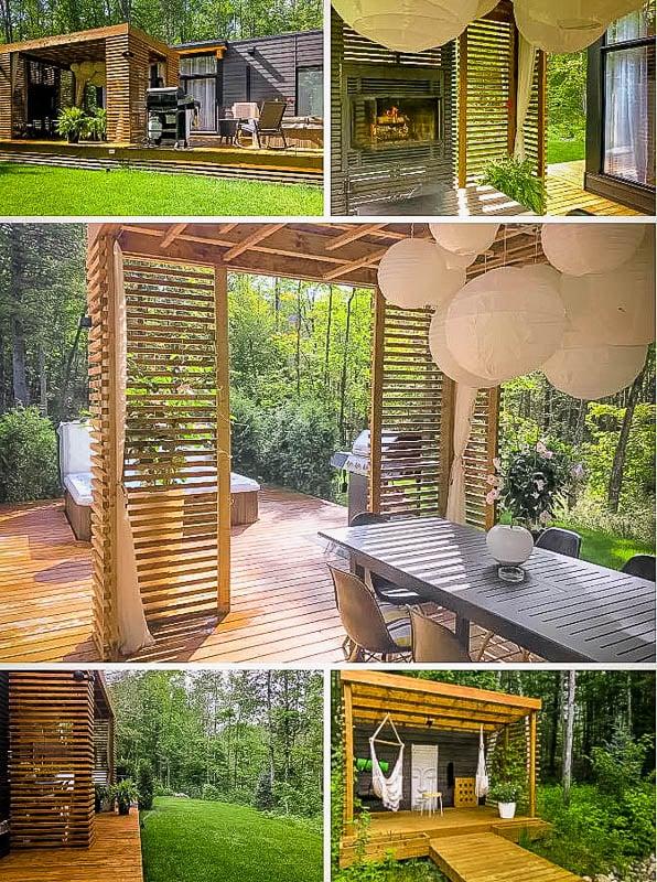 Unique home design and cozy amenities