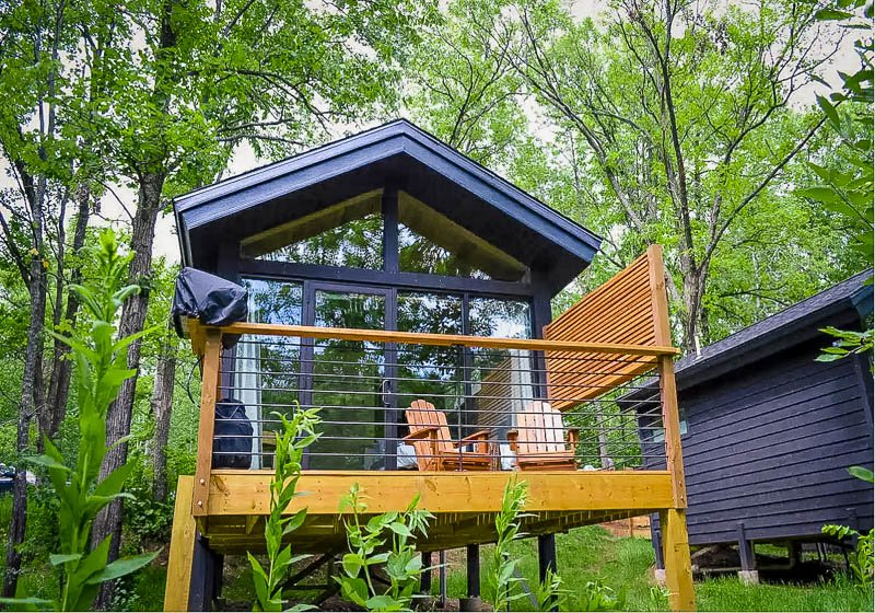 The ultimate glamping cabin in Minnesota.