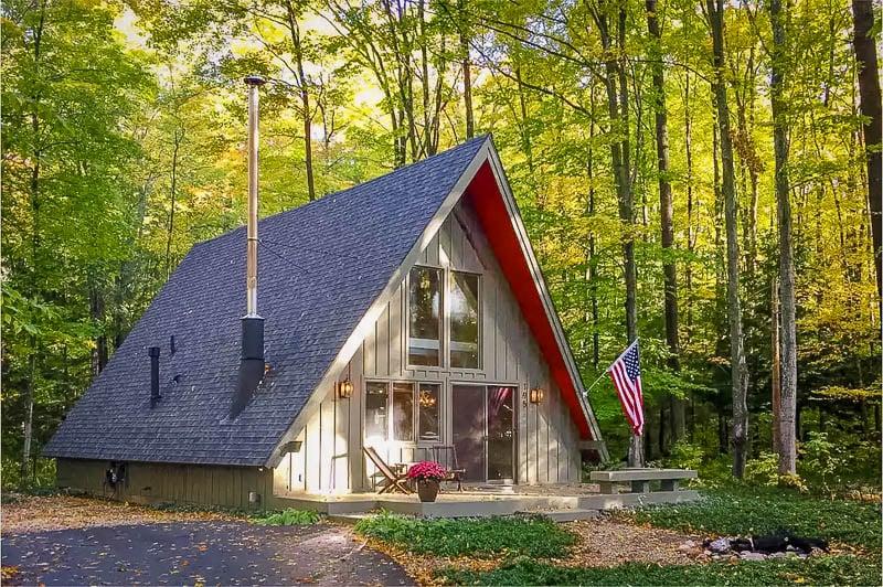 Unique A-Frame cabin for rent in Michigan