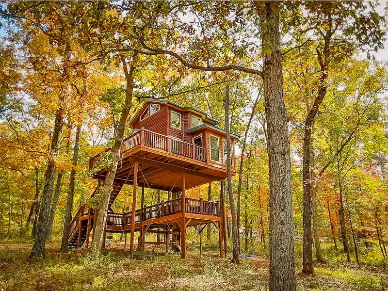 This treehouse is one of the coolest Airbnb rentals in the US