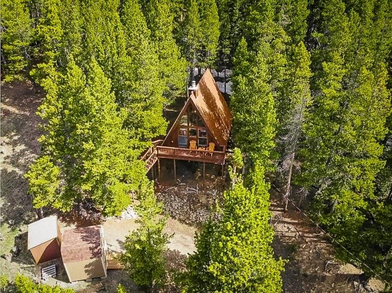 Unique A-Frame cabin for rent in Colorado