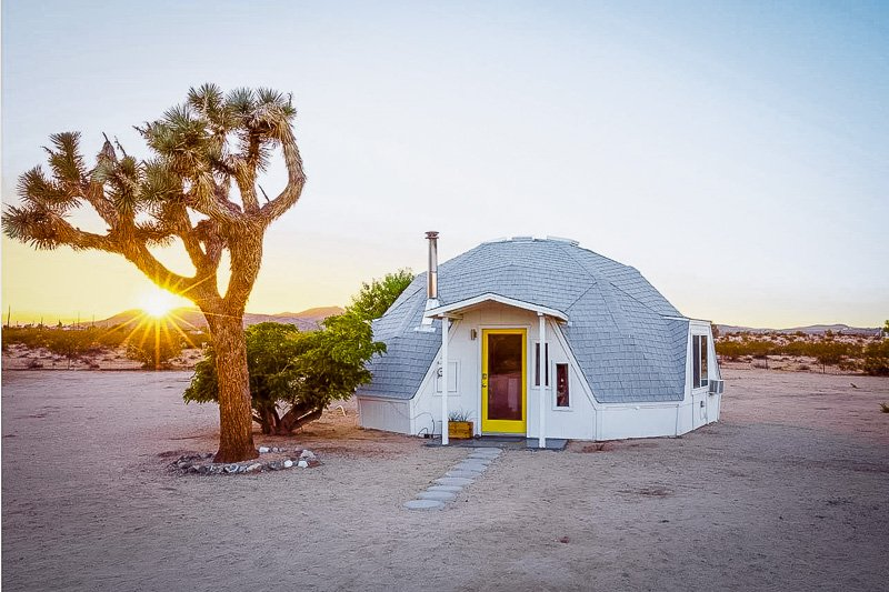 Unique dome rental in the desert of Southern California
