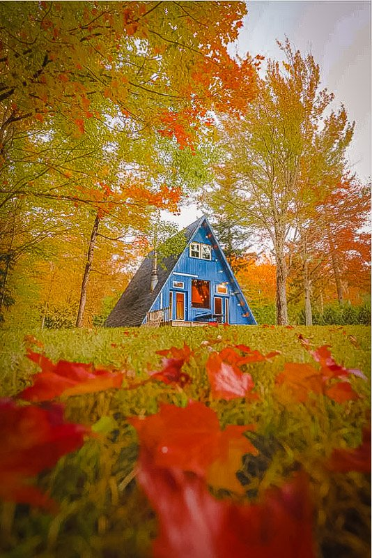 This A-Frame cabin rental in VT is among the coolest stays in New England.