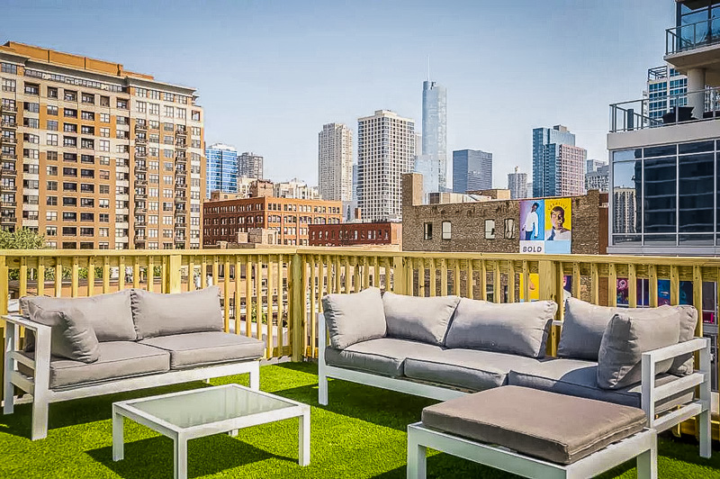 Rooftop deck with stunning views of downtown