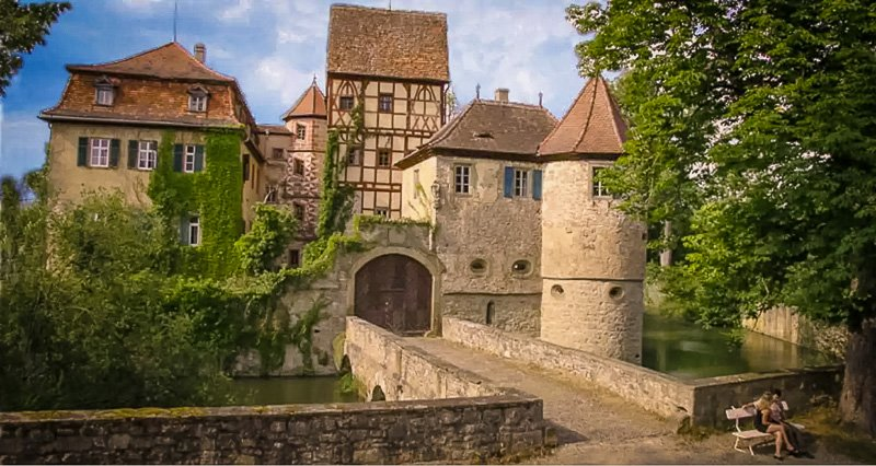 Medieval old town just steps away from this Germany vacation rental.