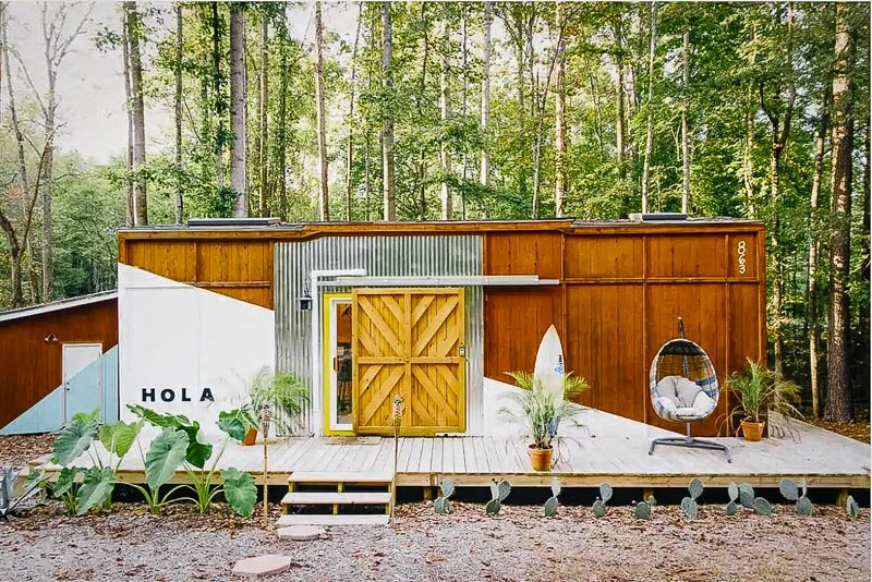 Artsy and modern tiny home for rent in South Carolina