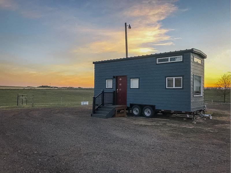 A mobile tiny home on a Colorado horse ranch
