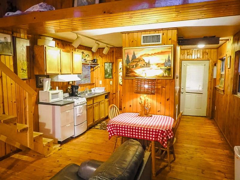 Log cabin style décor