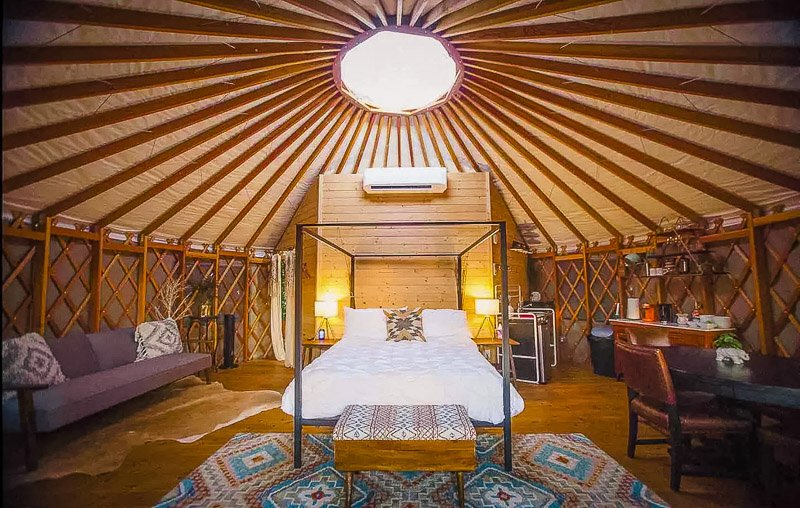 One of the most unique yurts in the US