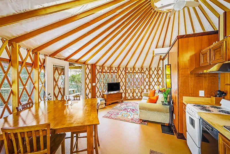 Unique yurt rental in the mountain of Georgia.