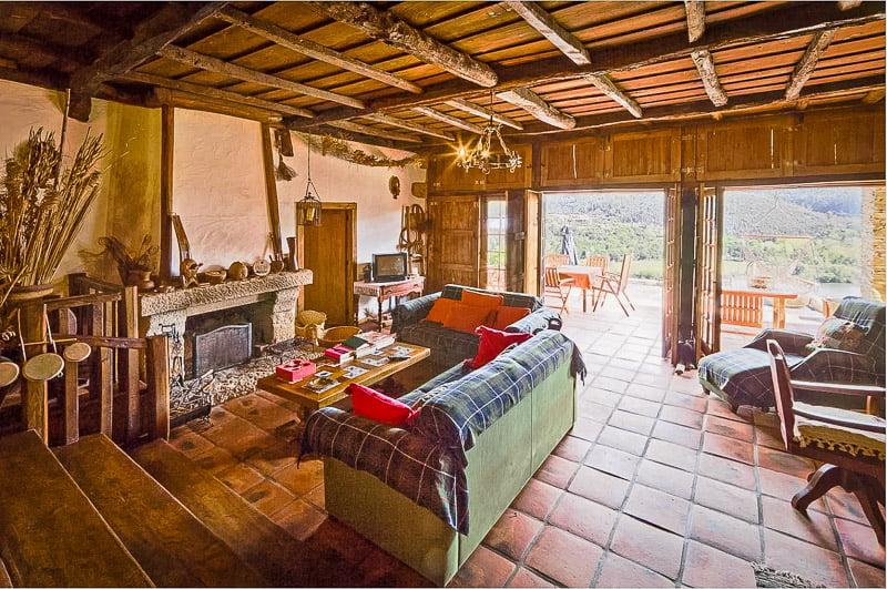Rustic interior living space
