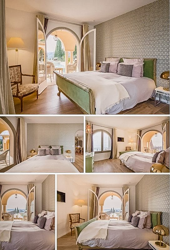 Master bedroom inside the Southern France vacation rental