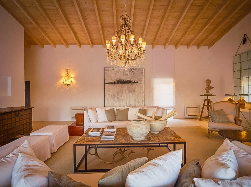 Modern living room seating area
